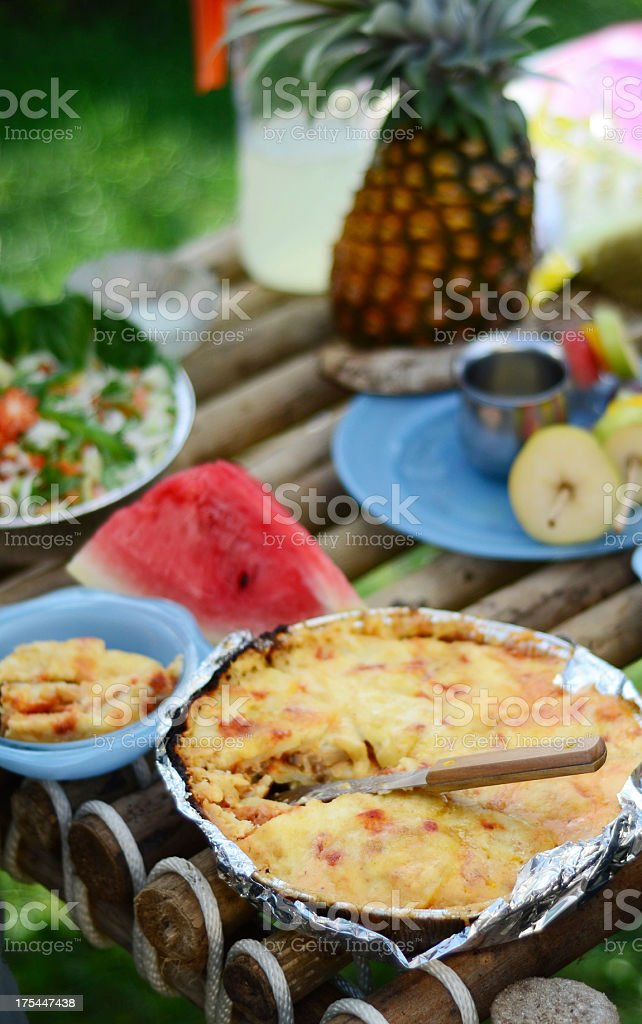 outdoor healthy cooked meal stock photo