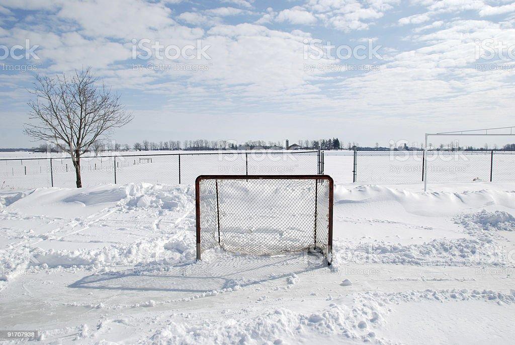 Outdoor hockey net royalty-free stock photo