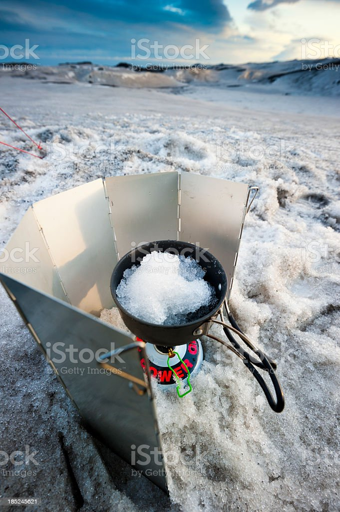 outdoor kitchen, iceland stock photo