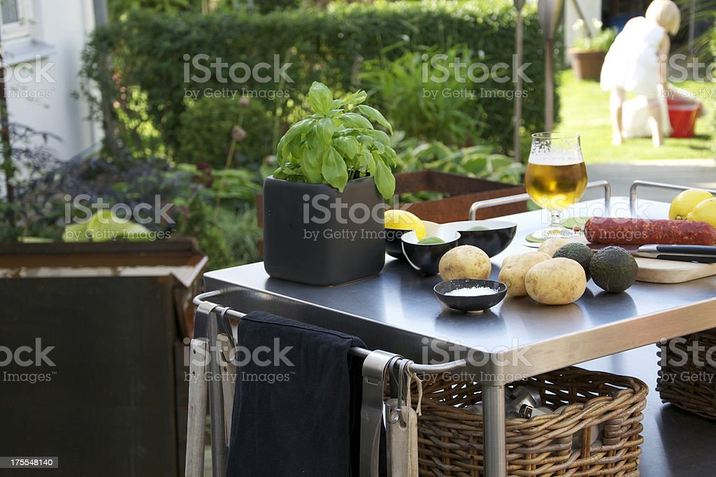Outdoor kitchen royalty-free stock photo