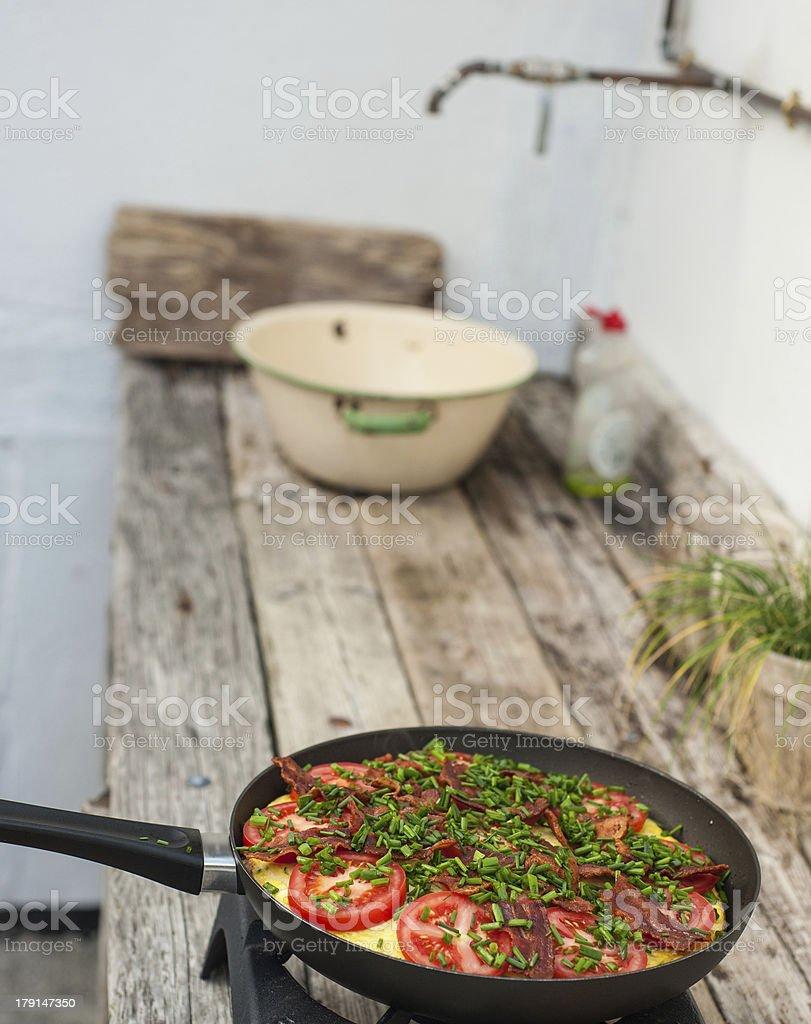 Outdoor kitchen royalty-free stock photo