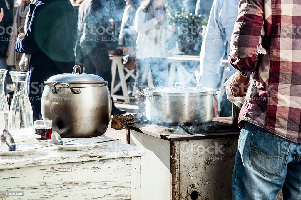 outdoor kitchen. Portugal stock photo