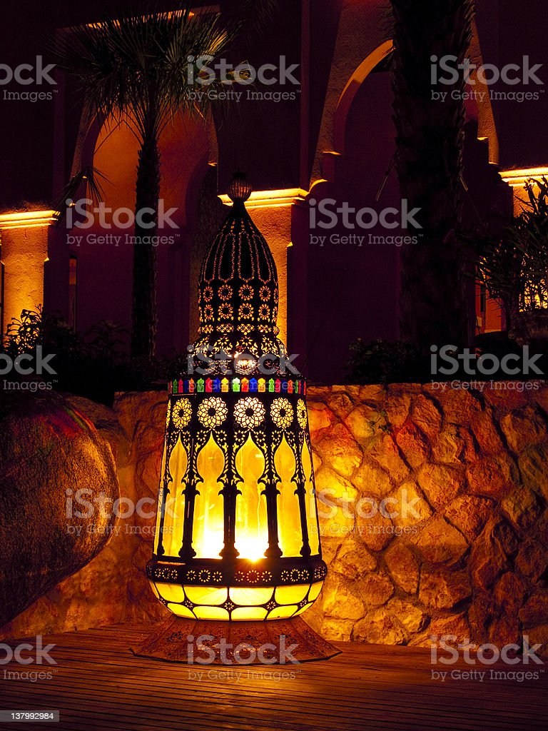 Outdoor lamp royalty-free stock photo