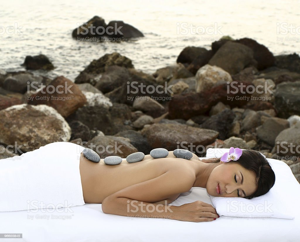 Outdoor Lastone therapy royalty-free stock photo