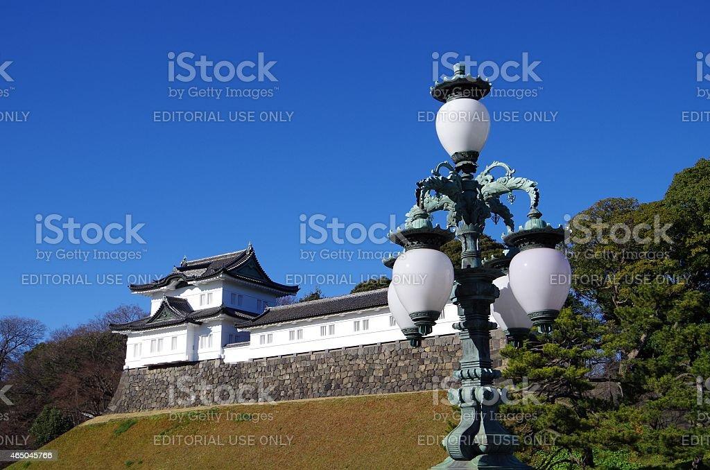 La luz externa & Fushimi torreta de Palacio Imperial foto de stock libre de derechos