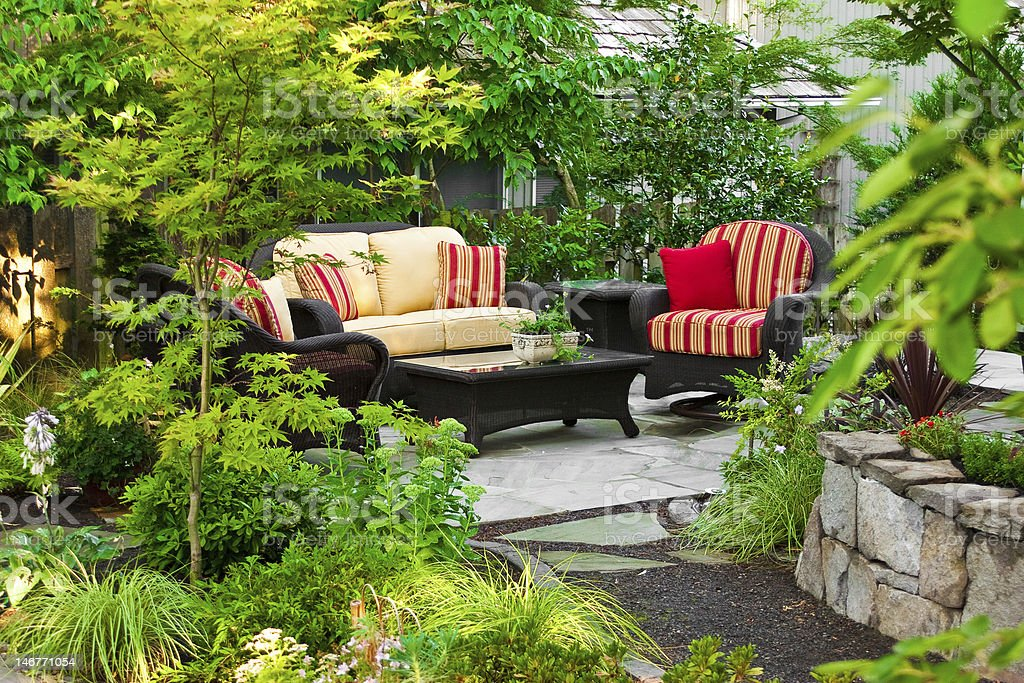 Outdoor Living Room stock photo