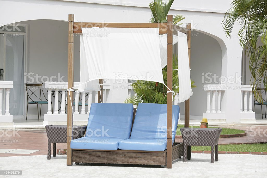 Outdoor lounge royalty-free stock photo
