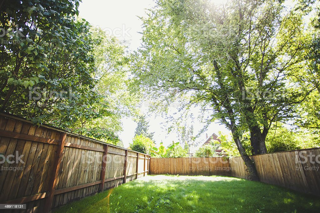 Outdoor Luxury Home Large Grass Backyard royalty-free stock photo