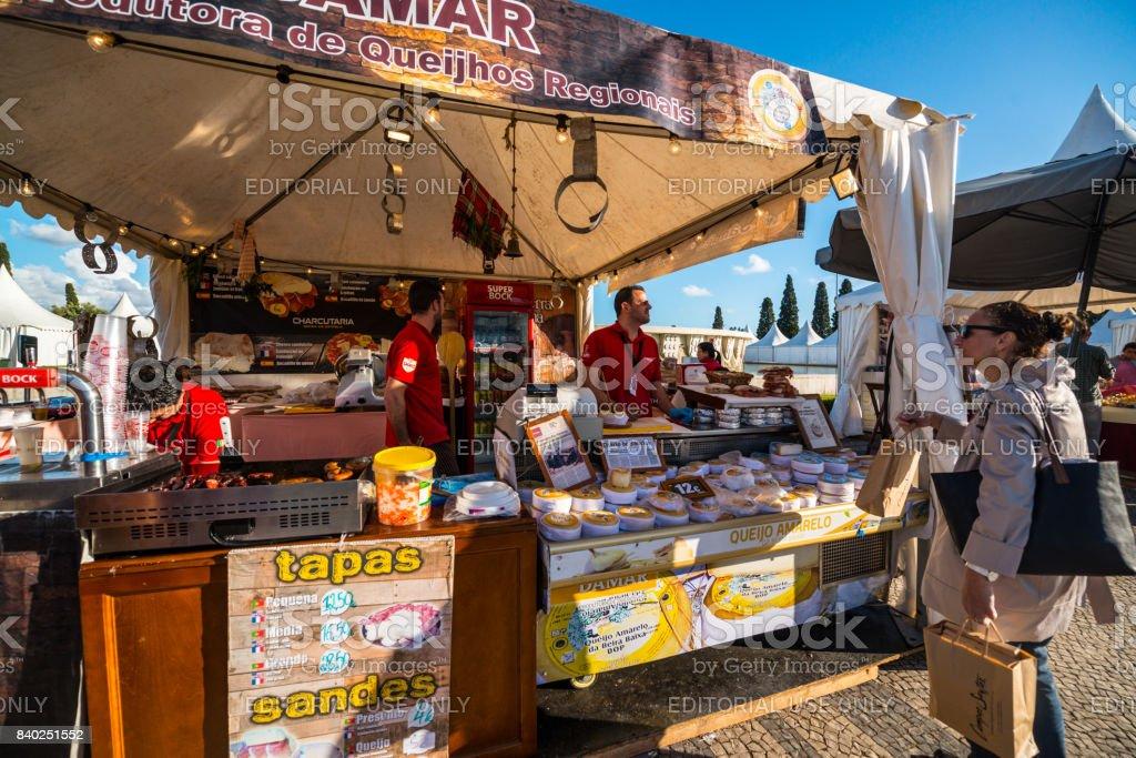 Farmers market in Belem in front of Jeronimos Monastery.