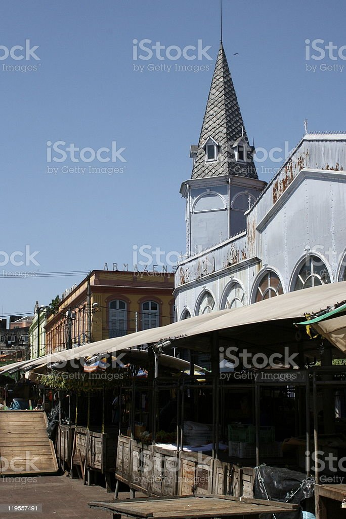 Outdoor Market in Brazil royalty-free stock photo