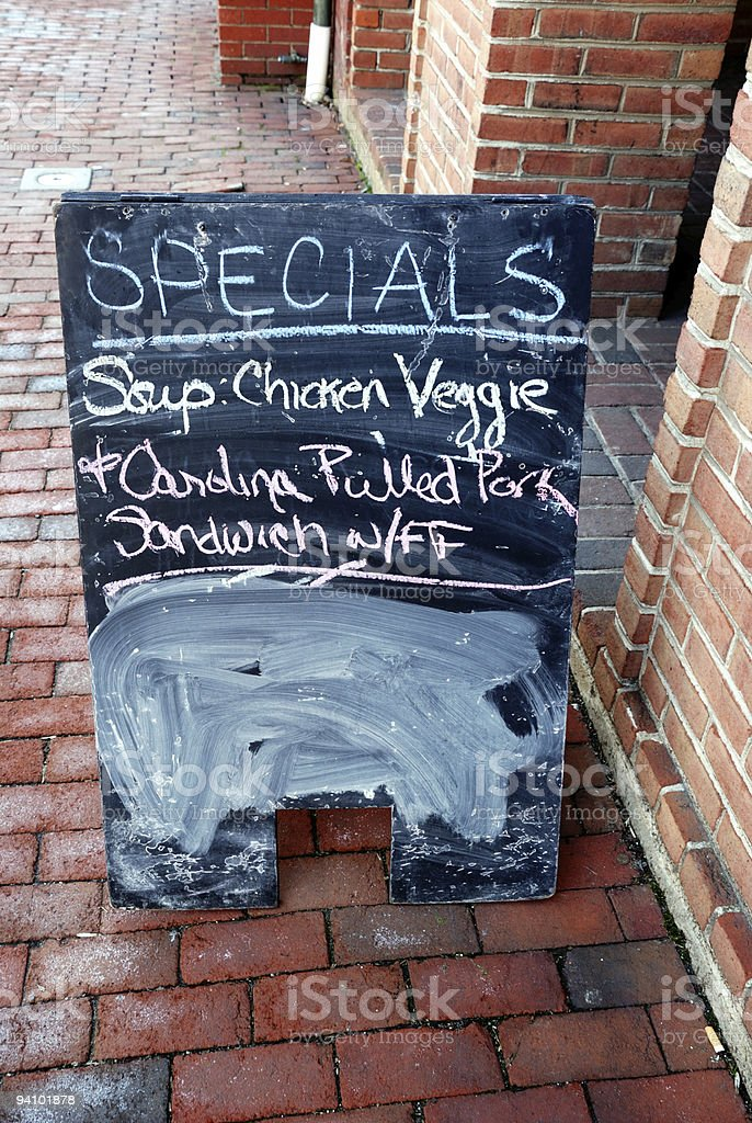 Outdoor menu sign royalty-free stock photo