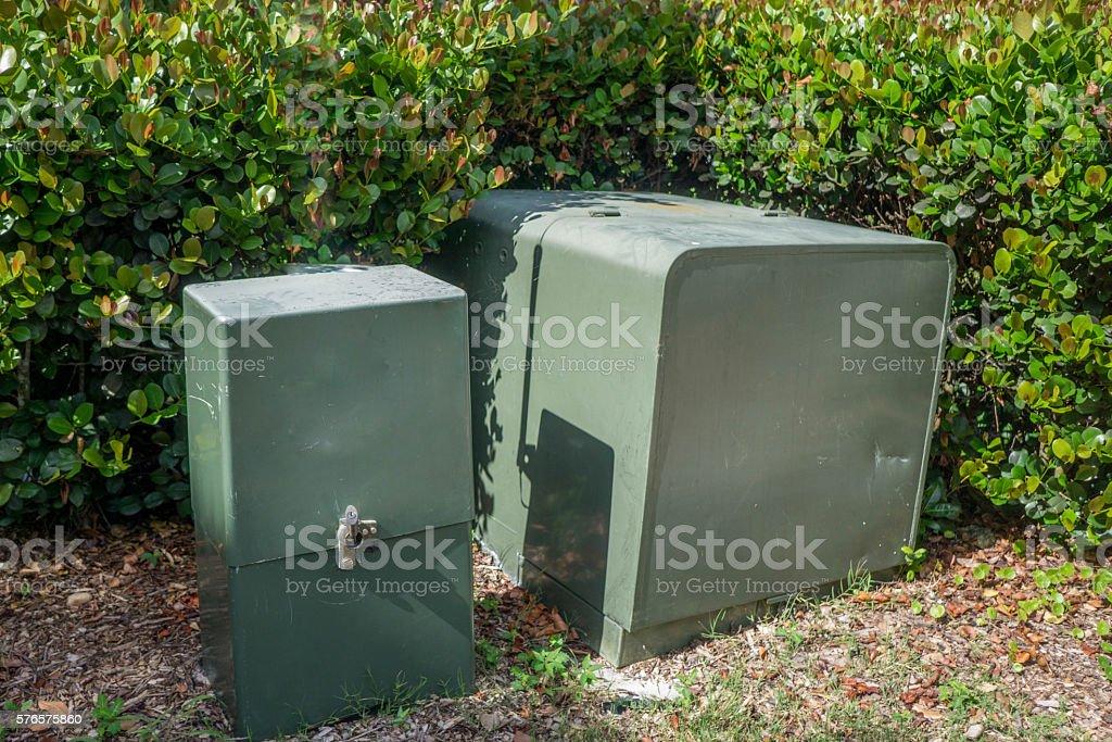 Outdoor Metal Housing stock photo