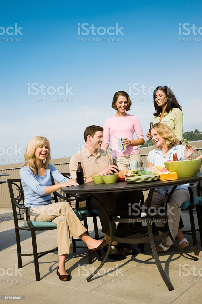 Outdoor Party Young People Together royalty-free stock photo