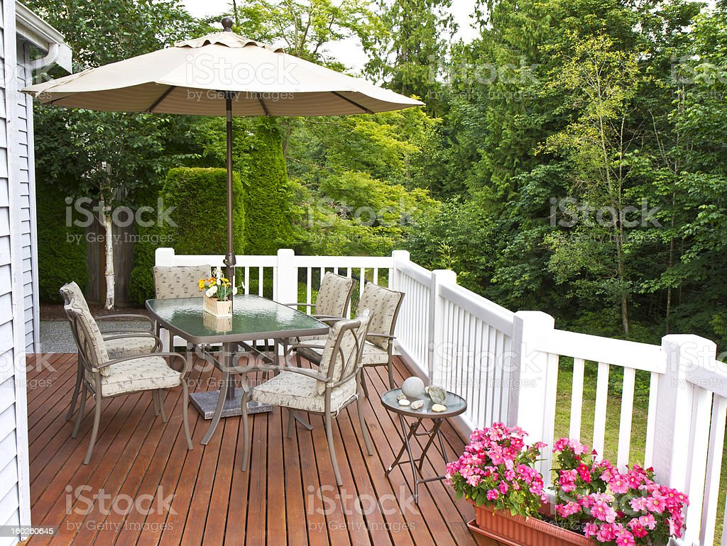 Outdoor Patio stock photo