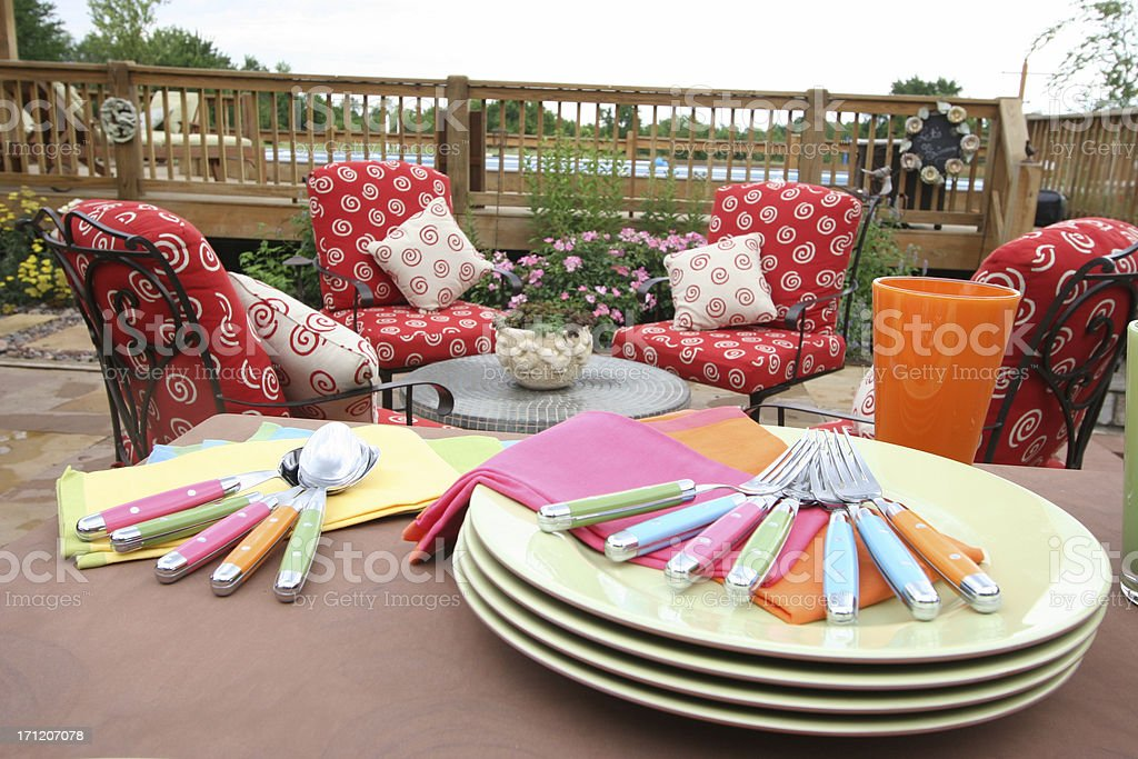 Outdoor patio stock photo