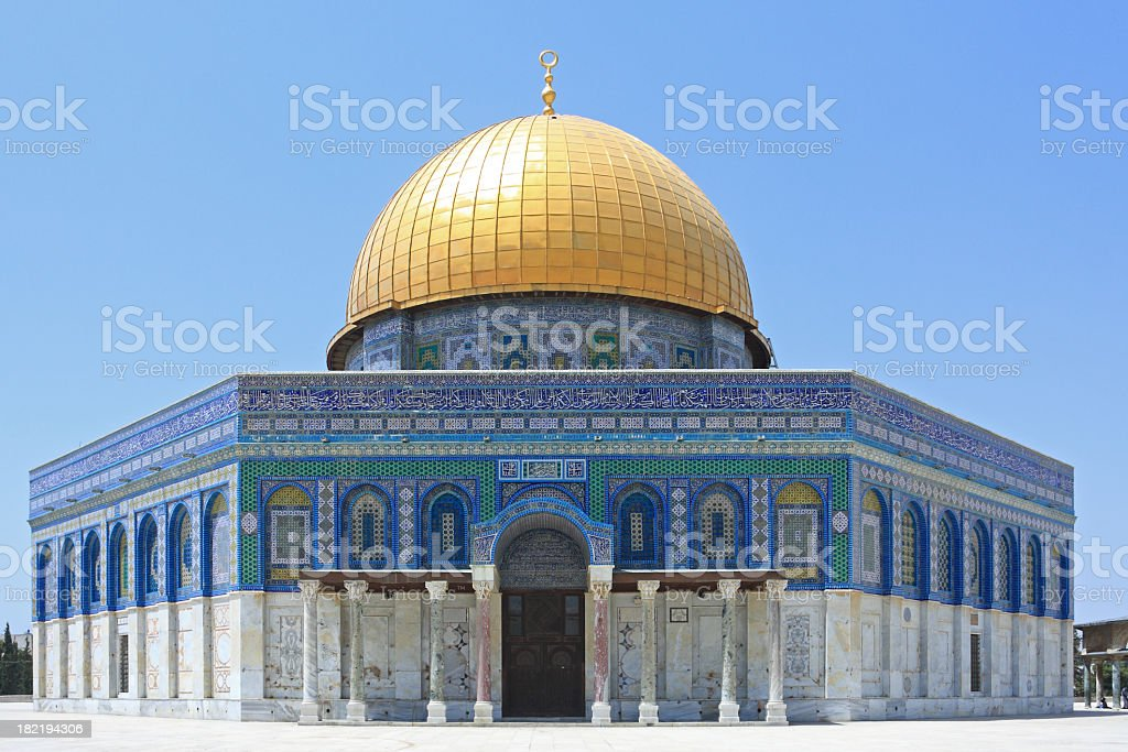 Outdoor photo of Al - Aska, Dome of the Rock, Jerusalem stock photo