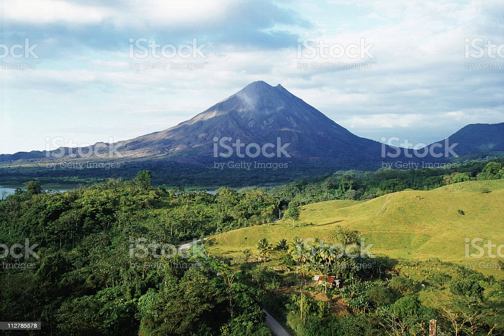 Outdoor photo with Arenal Volcano in Costa Rica stock photo