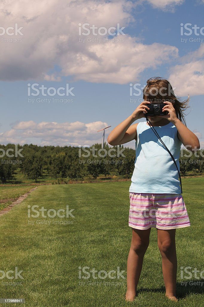 Outdoor photographer stock photo