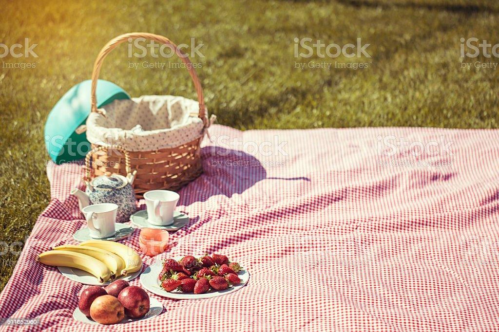 Outdoor picnic stock photo