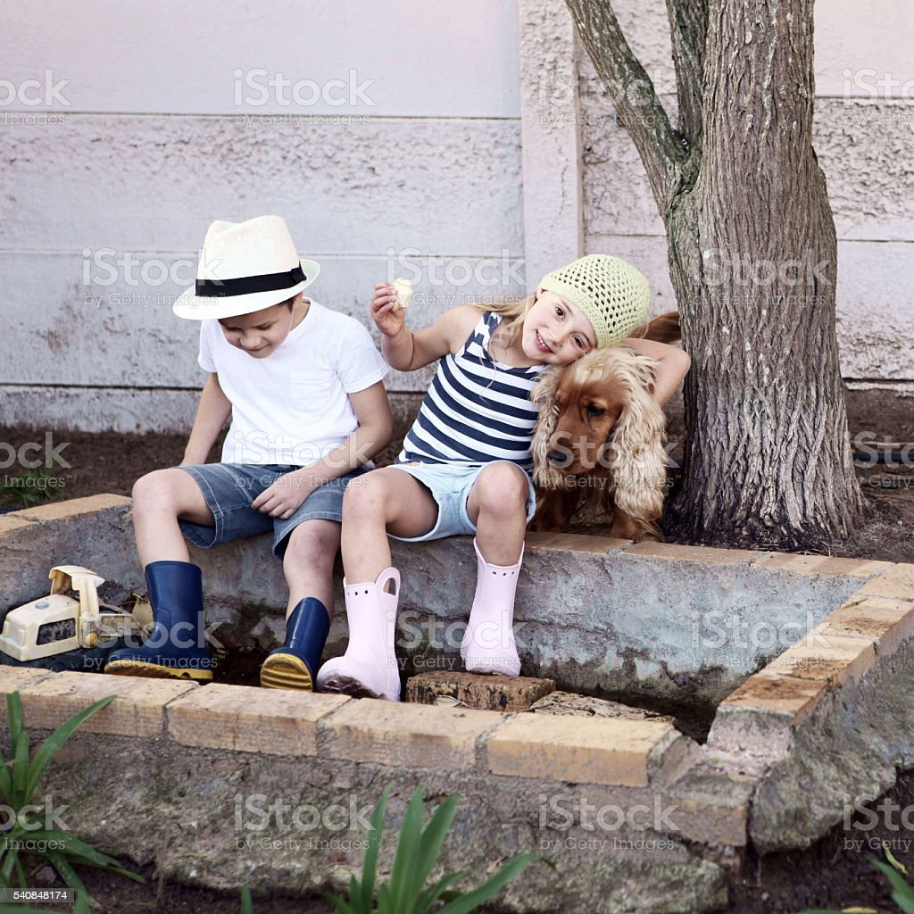 Outdoor play stock photo