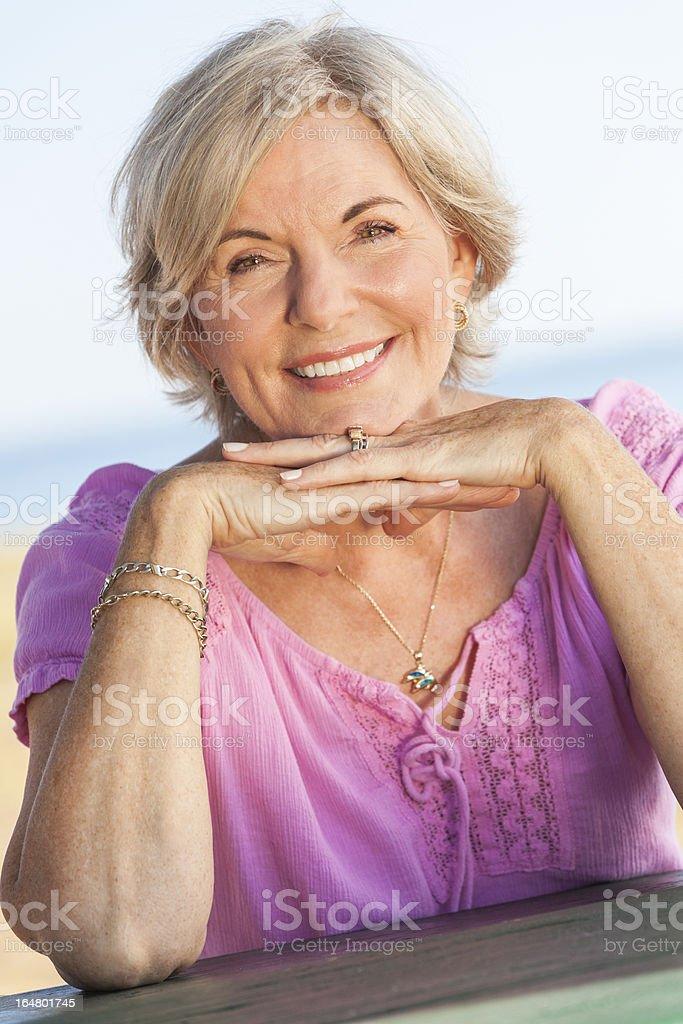 Outdoor Portrait Happy Senior Woman royalty-free stock photo