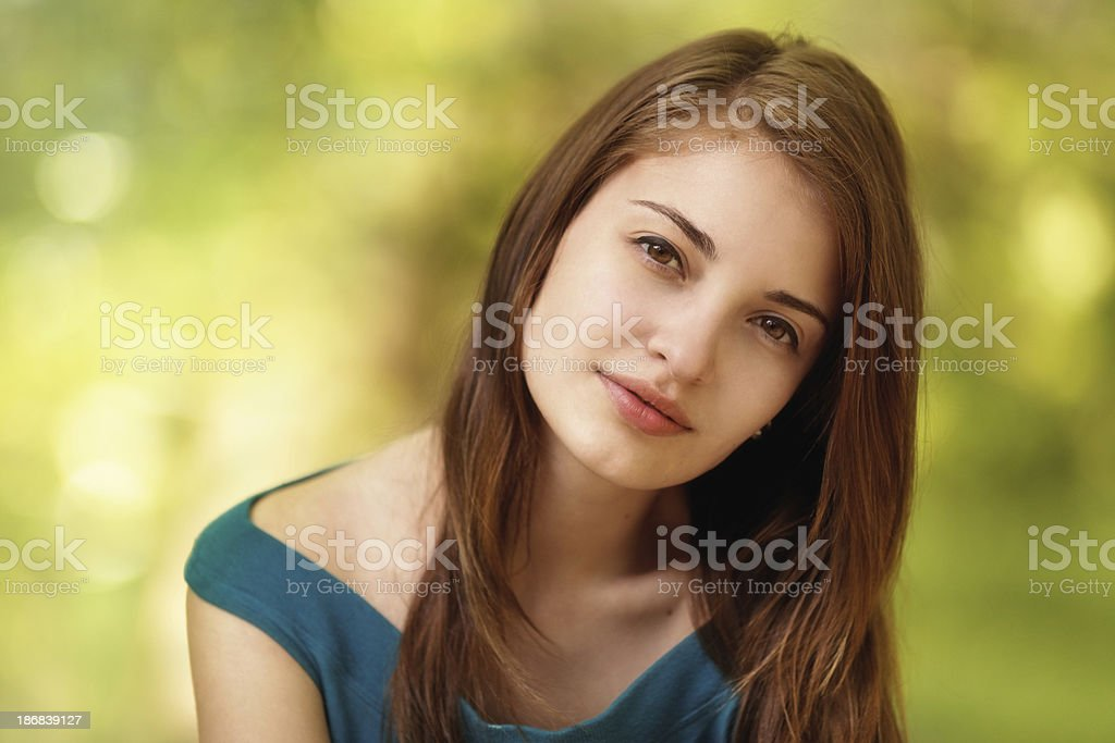 outdoor portrait of a girl royalty-free stock photo