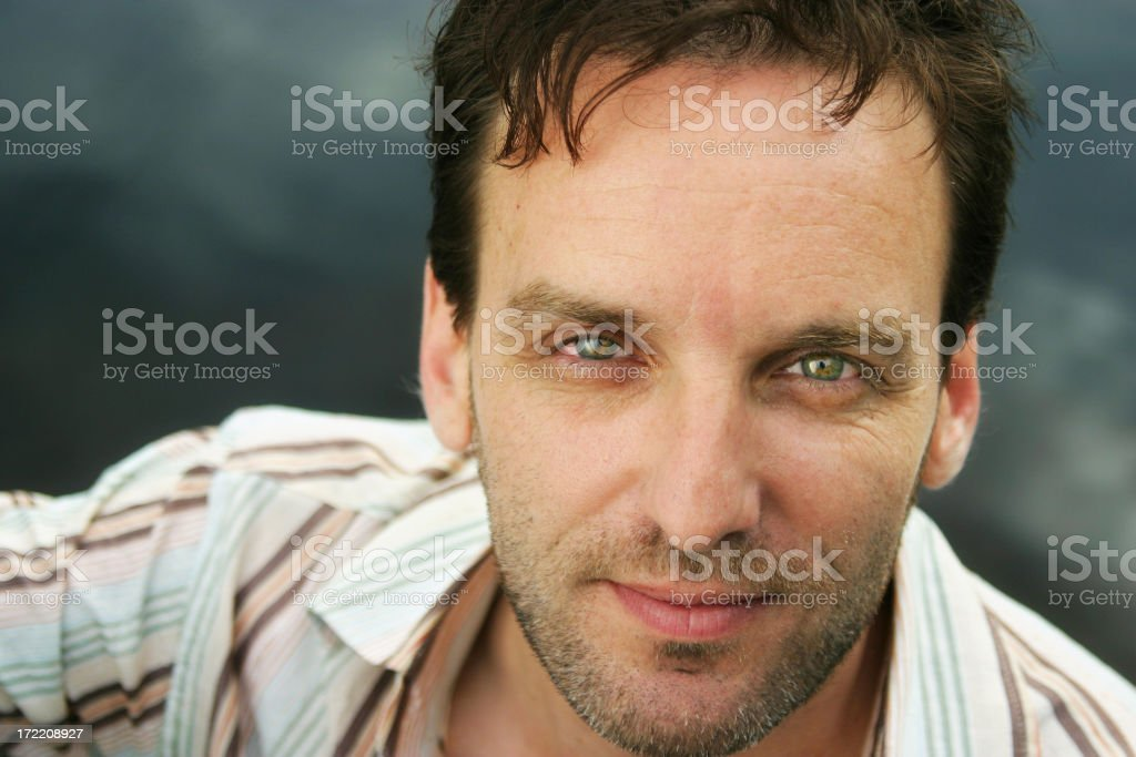 Outdoor portrait of a man royalty-free stock photo