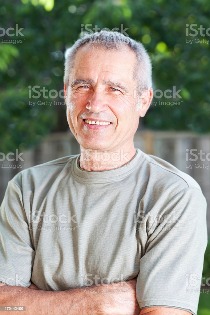Outdoor Portrait of a Mature Man royalty-free stock photo