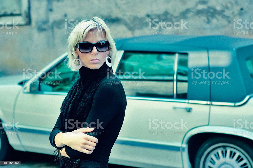 Outdoor portrait of a young beautiful woman royalty-free stock photo