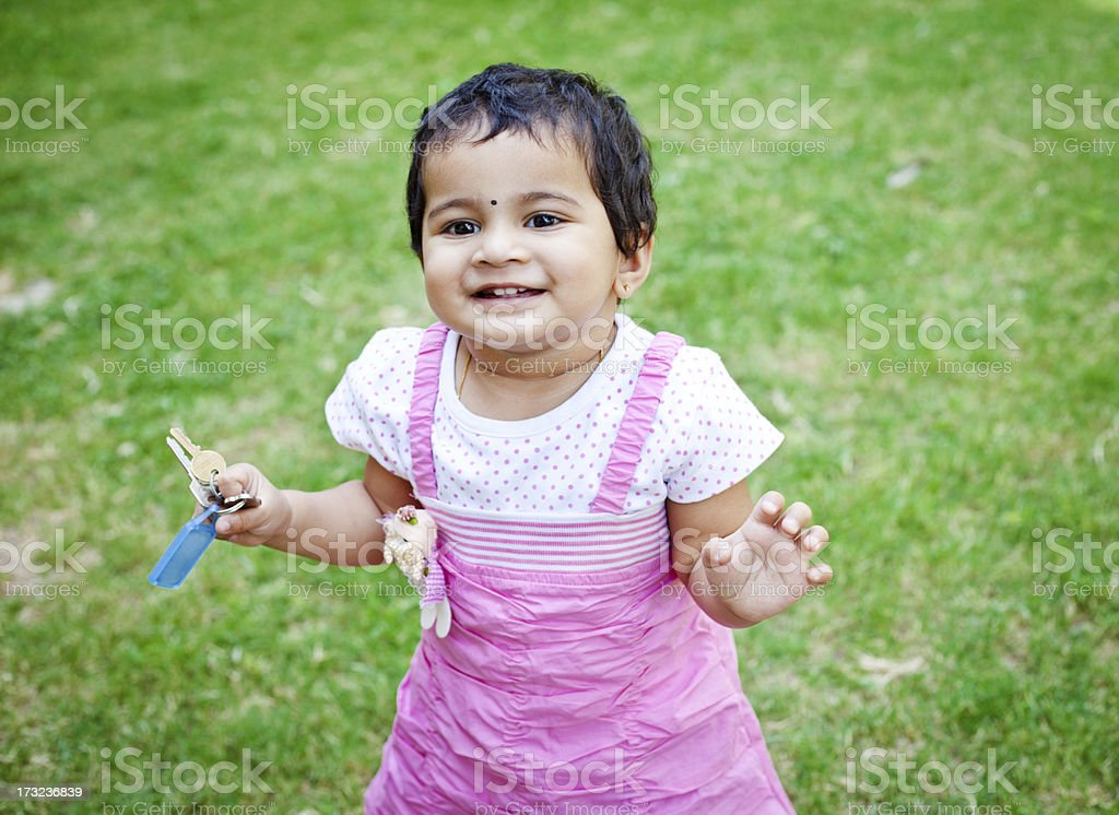 Outdoor Portrait of Cute Little Indian Girl royalty-free stock photo