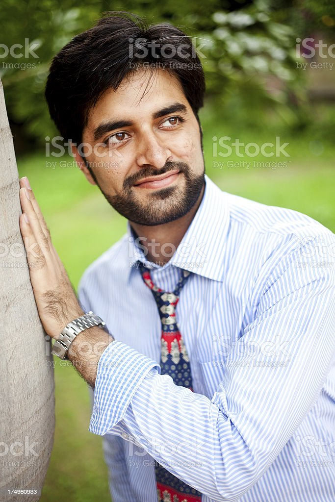 Outdoor Portrait of Handsome Asian Indian Man royalty-free stock photo