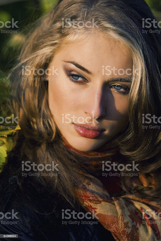 Outdoor portrait stock photo