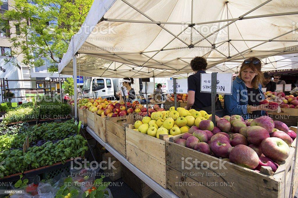 Outdoor Produce Market NYC royalty-free stock photo