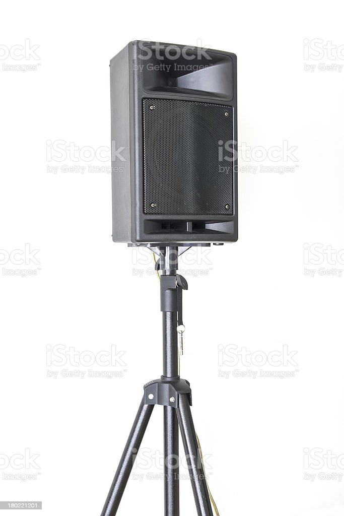 Outdoor public loudspeakers isolated on white background royalty-free stock photo