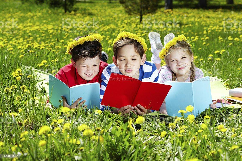 Outdoor reading royalty-free stock photo