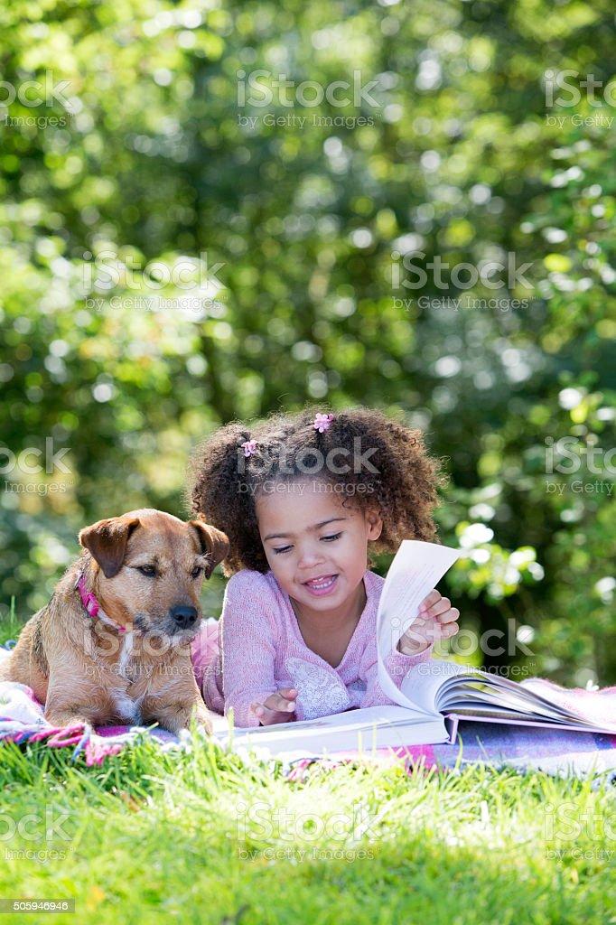 Outdoor Reading stock photo