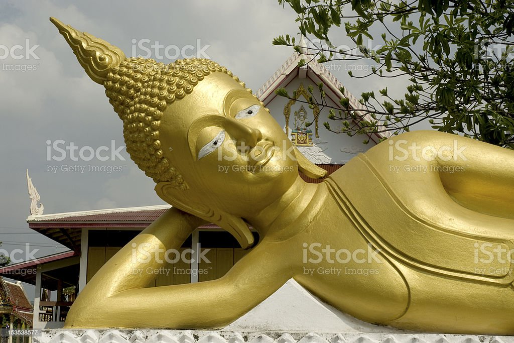 outdoor reclining buddha. royalty-free stock photo