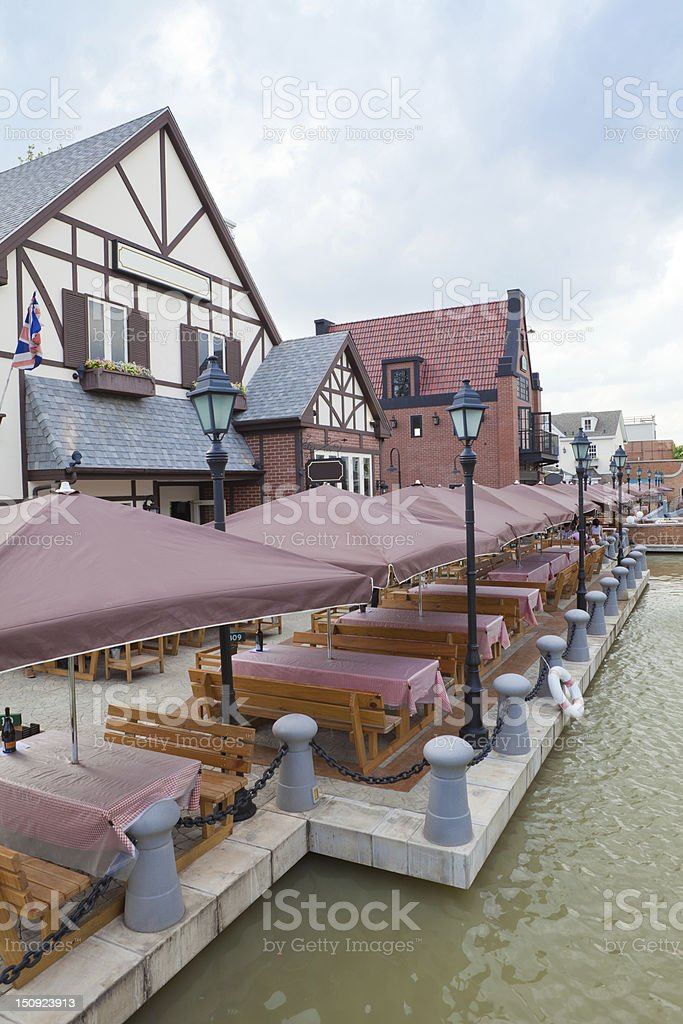 outdoor restaurant royalty-free stock photo