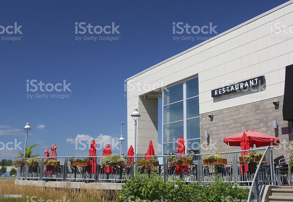 Outdoor Restaurant Terrace royalty-free stock photo