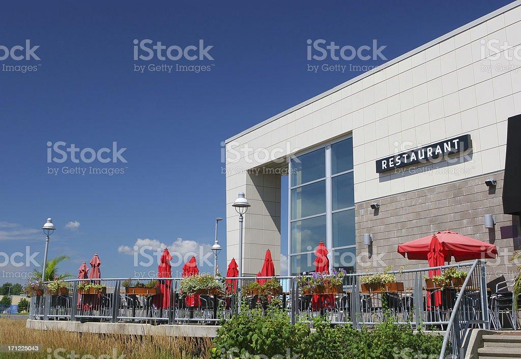 Outdoor Restaurant Terrace stock photo