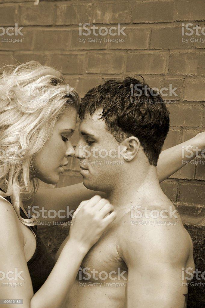Outdoor romance stock photo