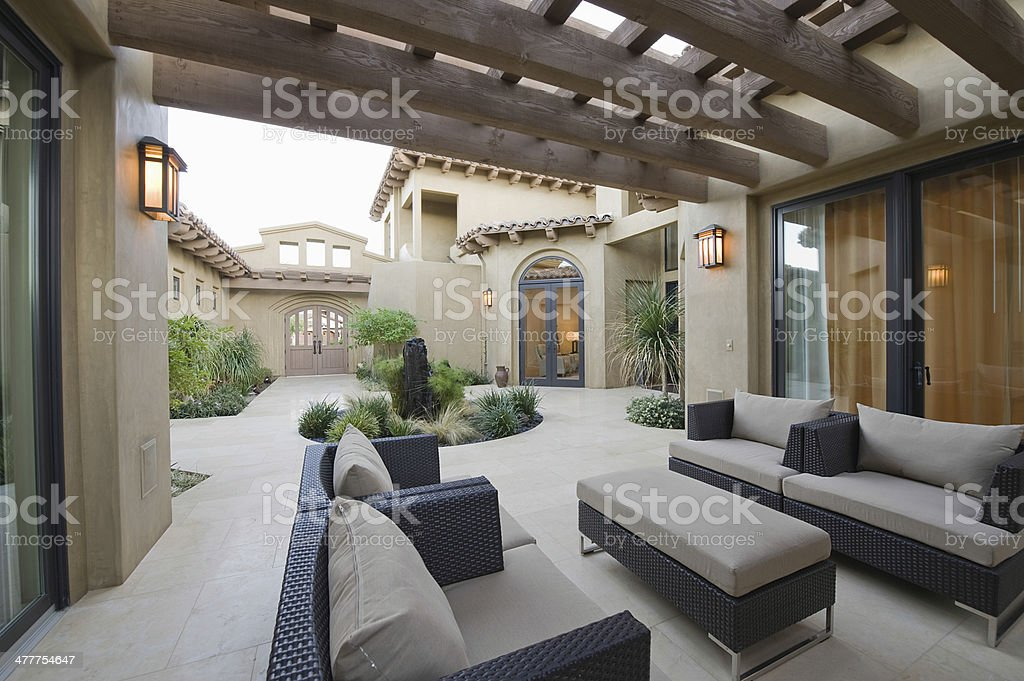 Outdoor Room Of Modern Home stock photo