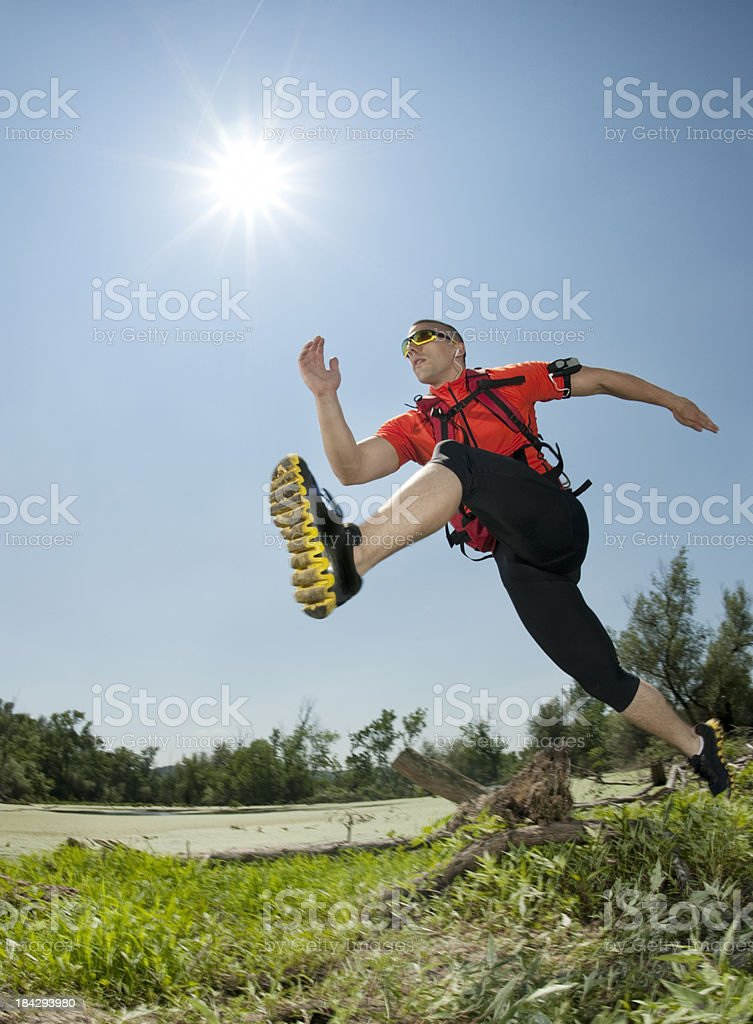 Outdoor running royalty-free stock photo