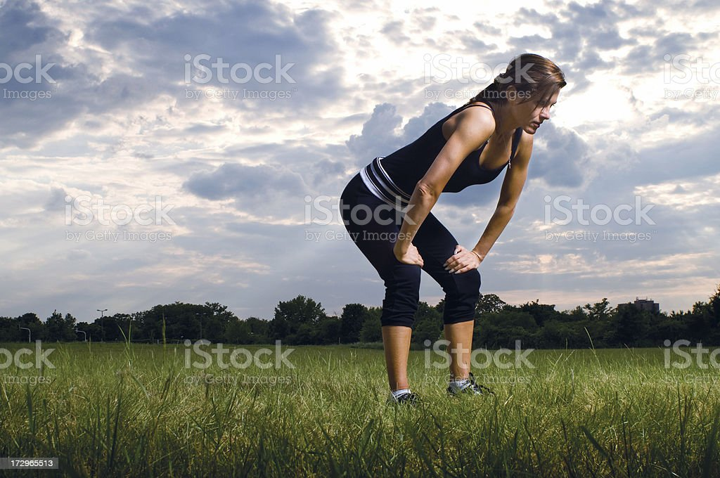 Outdoor Running Series royalty-free stock photo