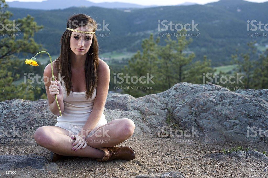 Outdoor Sadness stock photo