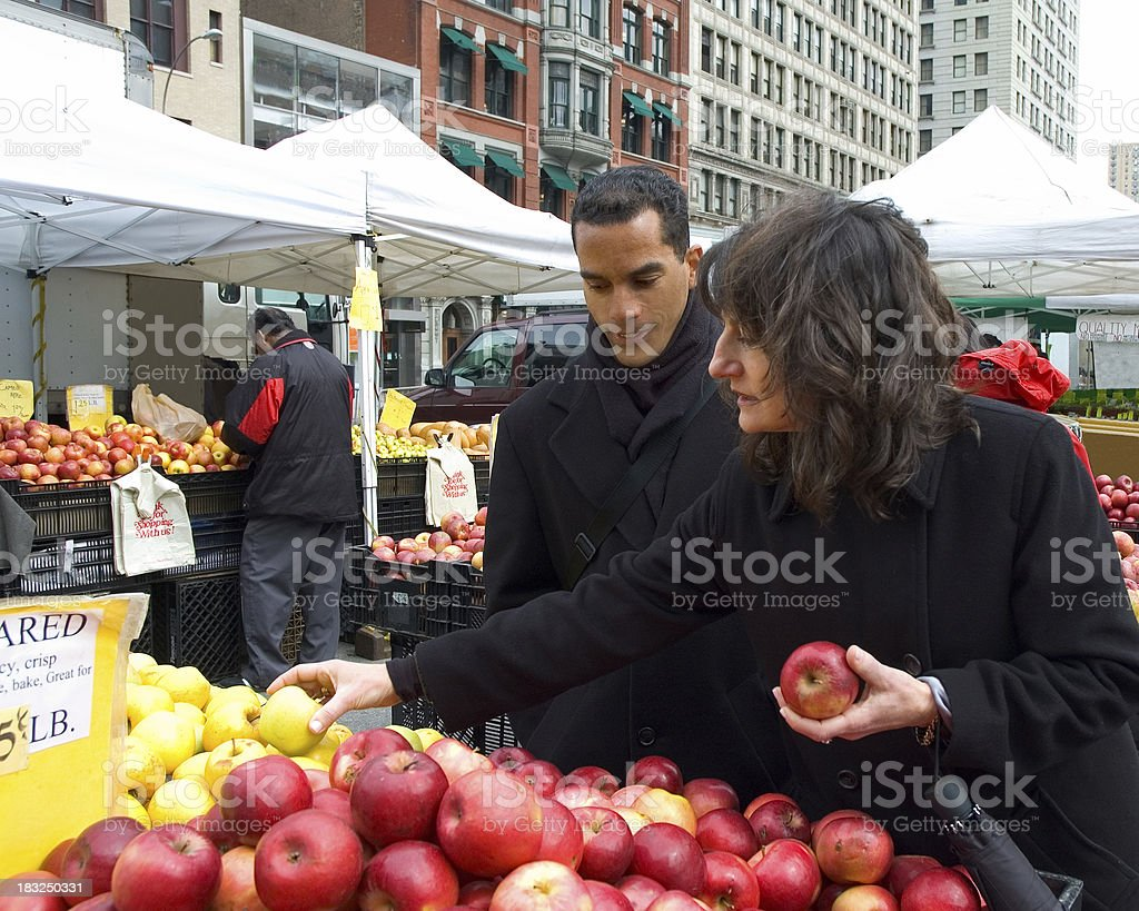 Outdoor Shopping at the Farmer's Market royalty-free stock photo