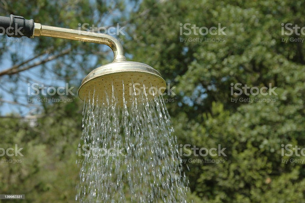 Outdoor shower head royalty-free stock photo