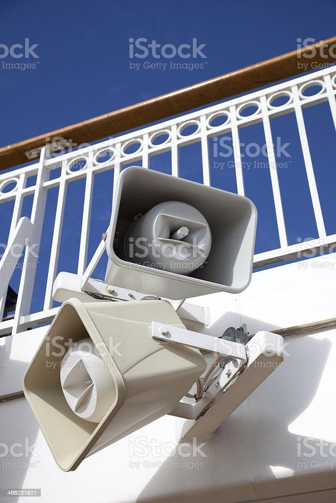 Outdoor Speaker royalty-free stock photo