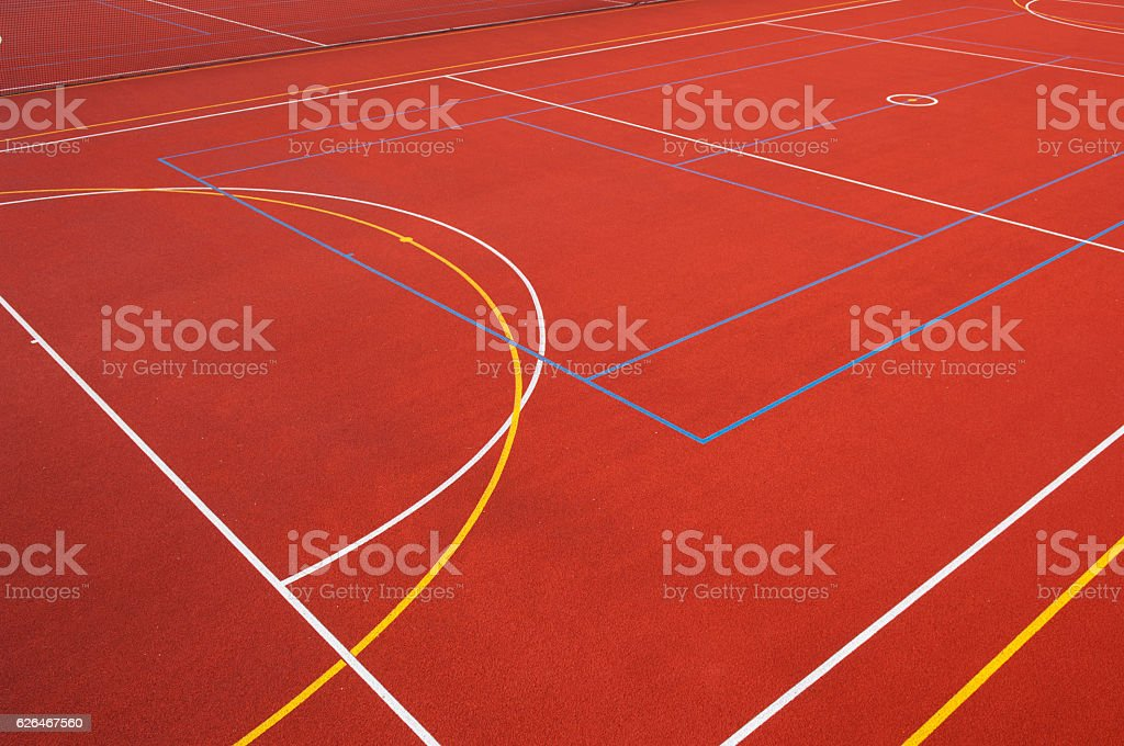 Outdoor sports surface stock photo