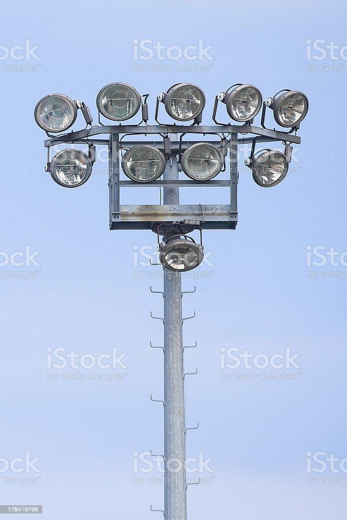Outdoor stadium lights stock photo